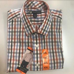 Island Escape Shirts - Island Sands Mens Button Down Shirt Checkered Mult